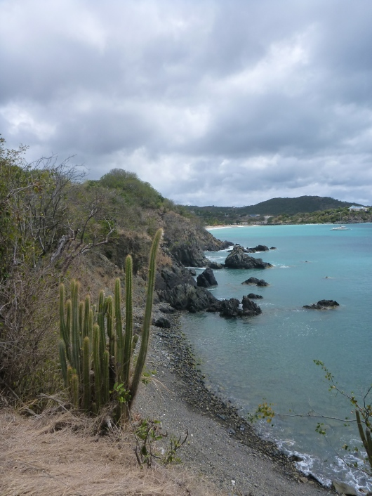 View from the trails along the path to and from Happy Bay, St. Martin.