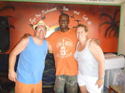 With Cito of Cito's Place, Grand Case, St. Martin.