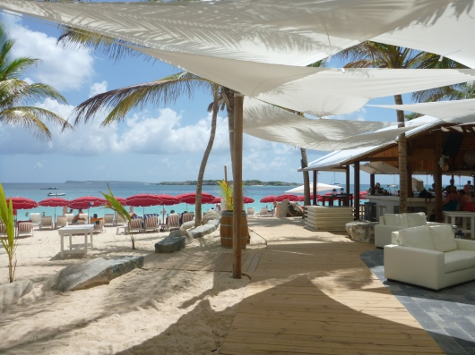 Kontiki Beach Club, Orient Beach, St. Martin.