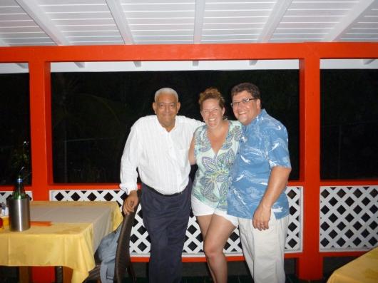 With Momo of Le Ti Bouchon, Cul de Sac, St. Martin.