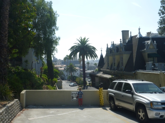 Looking East from the back parking lot of The Magic Castle.