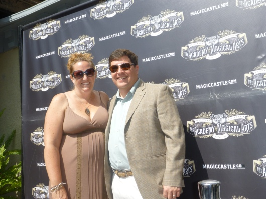 "T took this of C and I on the ""red carpet"" outside The Magic Castle."