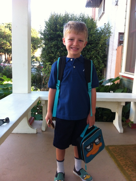 First day of Kindergarten Sept. 4, 2013.