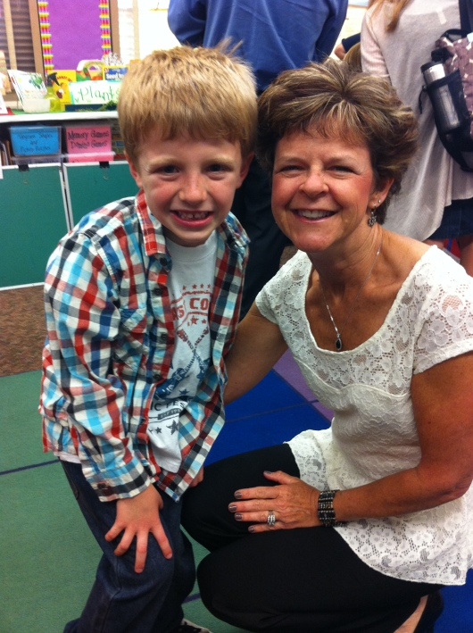 T and Mrs. K at Open House (May 22, 2014).