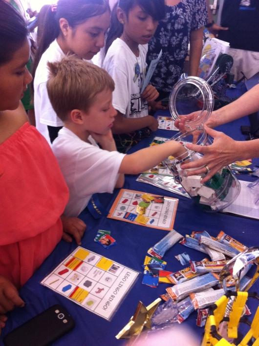... and T won LEGO bingo!