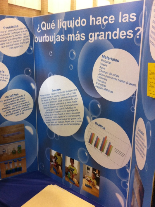 This project was done by one of T's teammates. It took me a moment to realize this entire project was done in Spanish, and then I realized T's friend attends a Spanish immersion school.