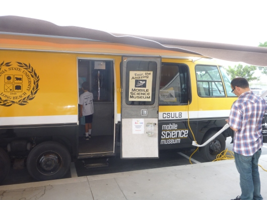 CSULB's Mobile Science Museum came to LBUSD's District Science Fair this May to help entertain and educate students, parents, and teachers about a variety of Earth, physical, and other areas of scientific study.