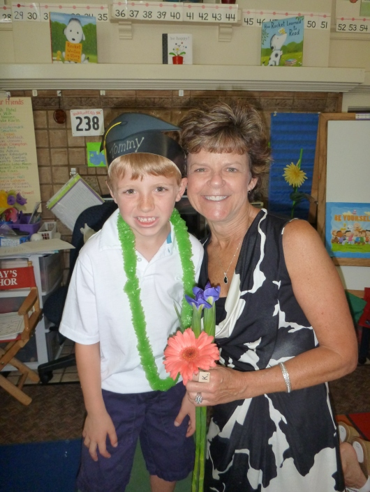 T and Mrs. K on Kindergration Day (June 11, 2014).