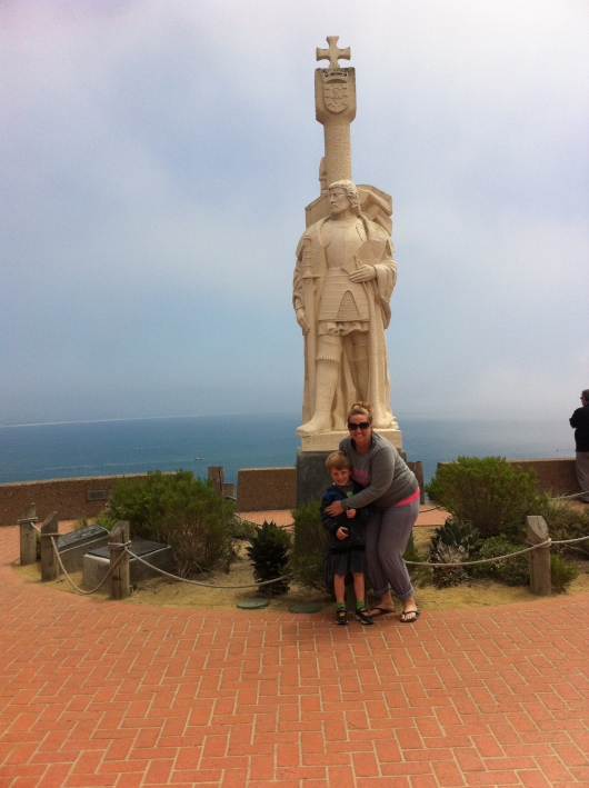 T and I at Cabrillo National Monument in April 2014.