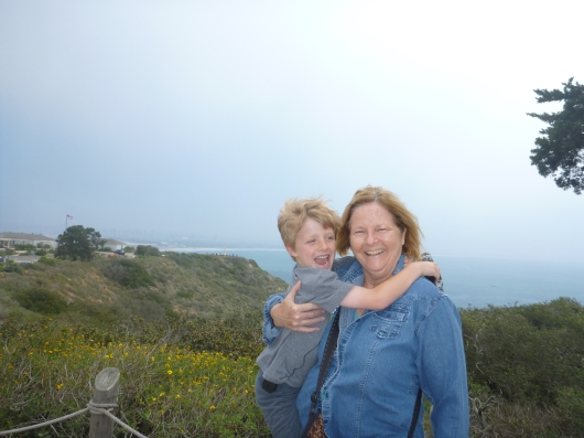 T with Grandma Beep at Cabrillo National Monument.