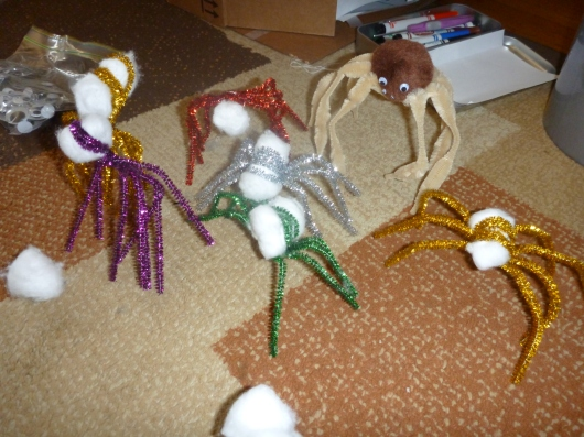 Craft Pipe Cleaner Spiders Real Mom Time Rmt
