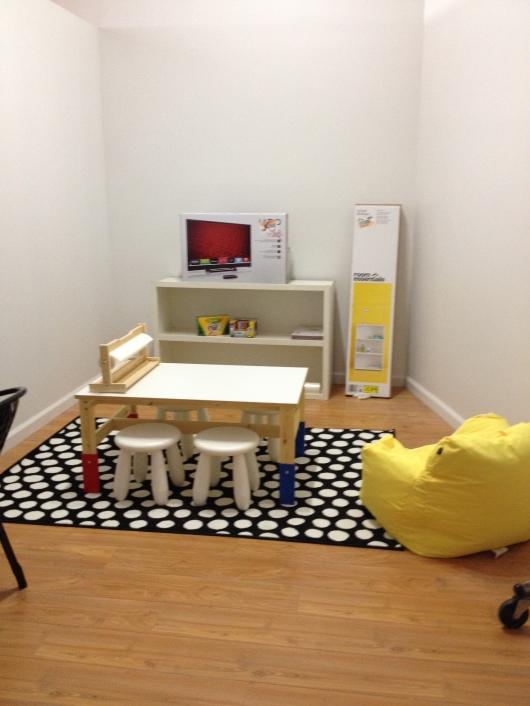 Xtend Barre Seal Beach's kids' lounge (work in progress).
