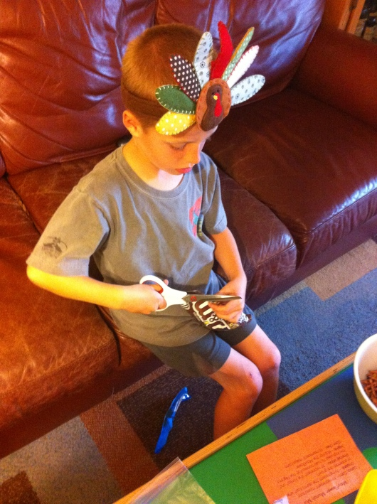 "T is now 7 years old and quite capable with the ""real scissors."" Please always use your own discretion as to whether your child is ready for this step."