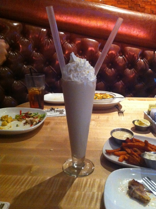 Cookie butter milkshake at Stacked.