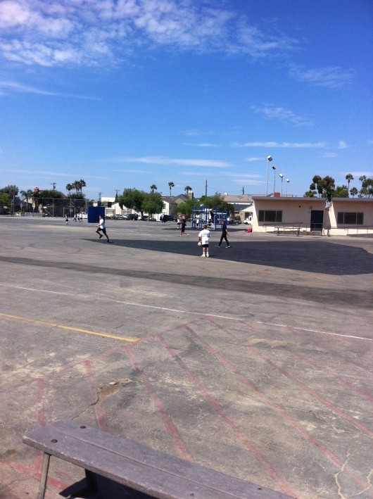 """No school day is complete without a kickball game after school at """"Coachie's."""" And the first day of school is no different."""