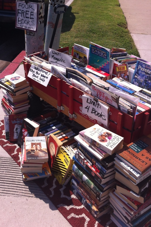 Riley's Red Wagon Book Swap is sweeping readers all over Long Beach off their feet with free book swaps and a sense of community.