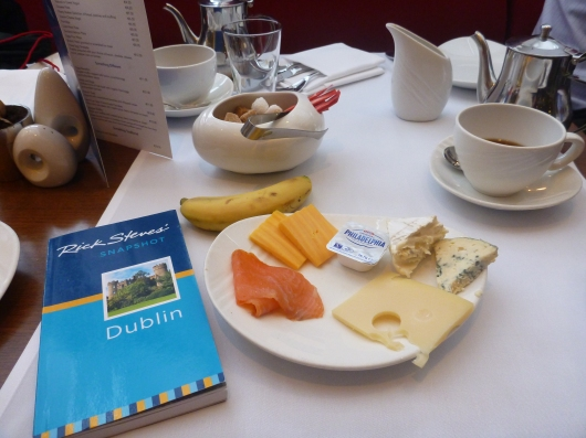 My daily breakfast at the Conrad Dublin (full hot and cold buffet).
