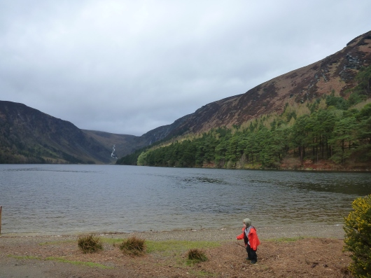 "Literally Glendalough - AKA ""Valley of the Two Lakes."" And apparently also valley of the sticks, rocks and mud, AKA a child's paradise."