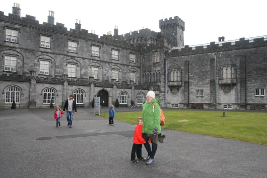 T and I at Kilkenny Castle, Ireland (April 2013).