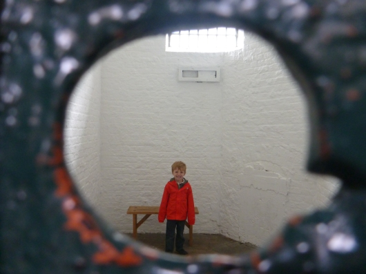 Kilmainham Gaol, Dublin. Stay out of trouble, kids.
